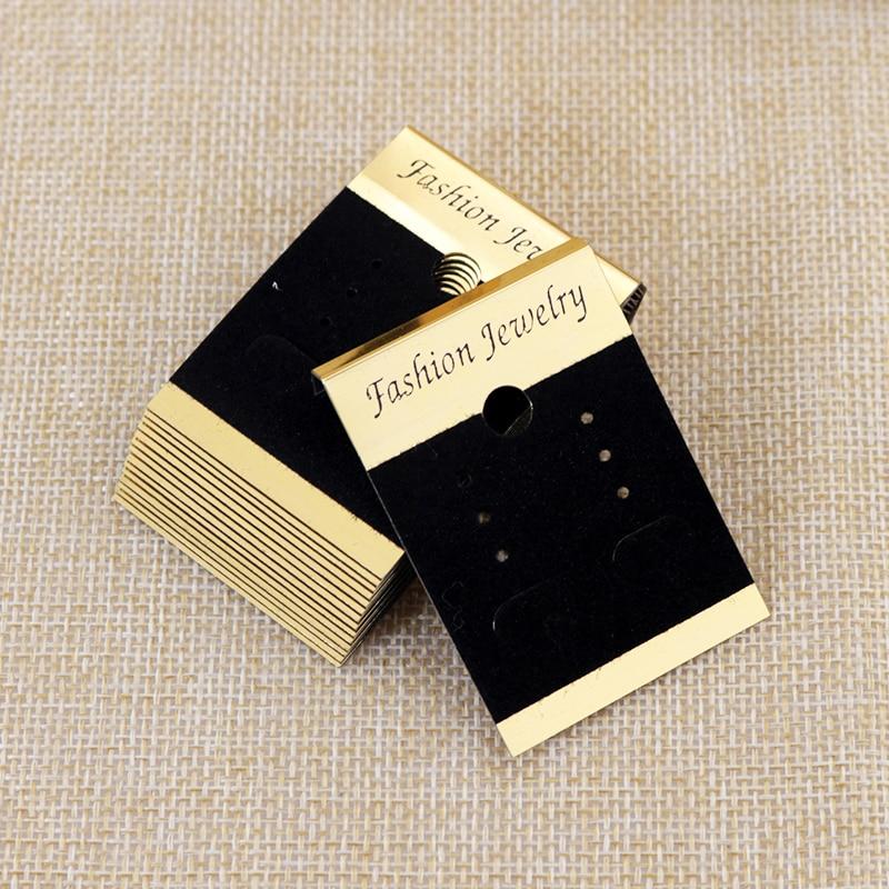 Der Diy Zubehör StraßEnpreis Perlen & Schmuck Machen 10 Stücke 5x5 Cm Verschiedene Muster Papier Schmuck Display Ohr Bolzen Ohrring Karten Hängen Label Tags Für Schmuck