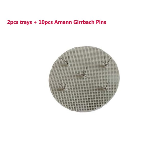 2pcs 72mm trays + 10pcs Amann Girrbach Pins Dental Lab Honeycomb Round Firing Trays For Holding PFM