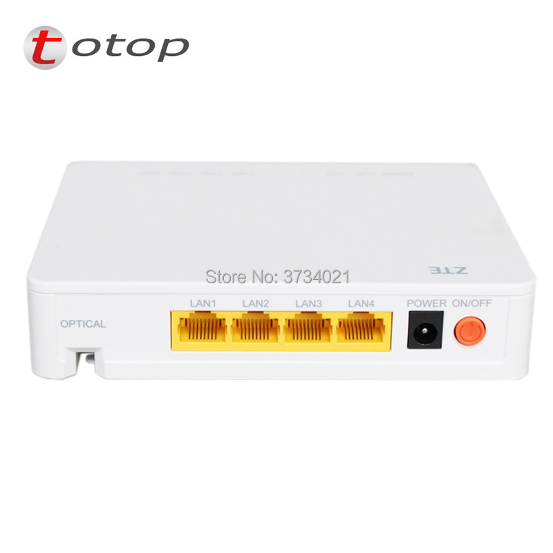 ZTE ZXA10 F400 EPON ONU ONT Version 6.0, 4 ethernet port 1GE+3FE, Termina Epon Fiber Network Router