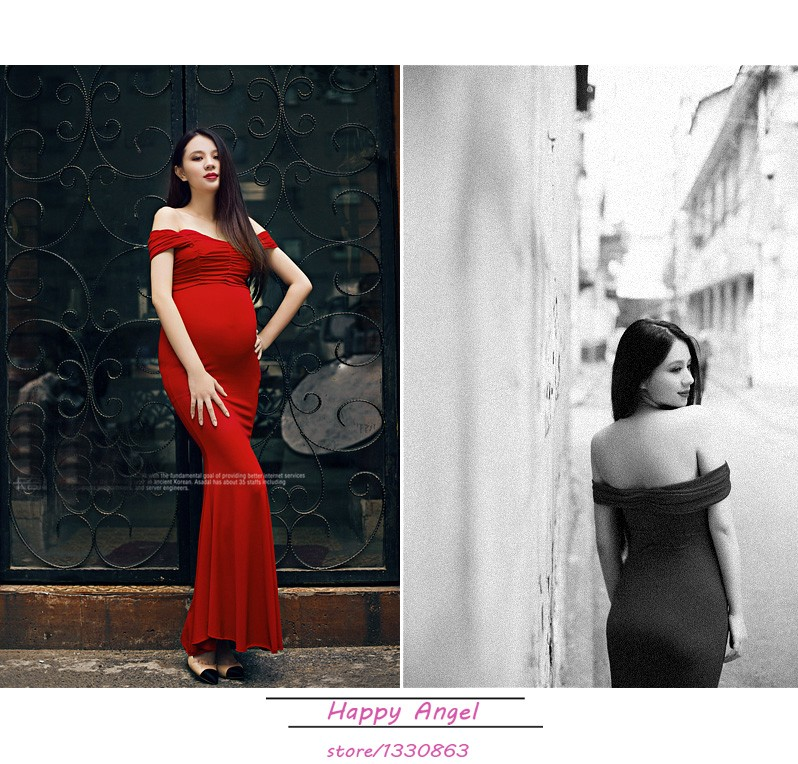 New-Maternity-pregnant-women-Photography-Props-Red-Sexy-Elegant-Romantic-Dress-Noble-Photo-Shoot-costume-personal (3)