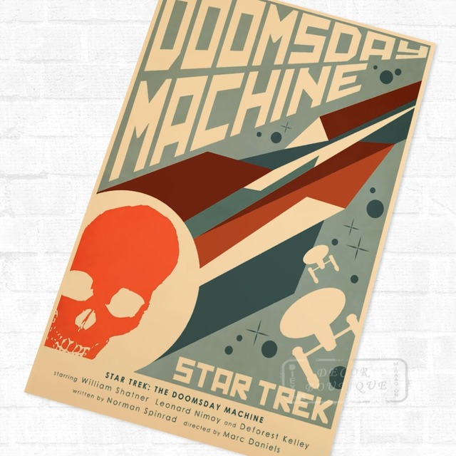The Doomsday Machine Star Trek Wall Mural Poster Decorative DIY Wall