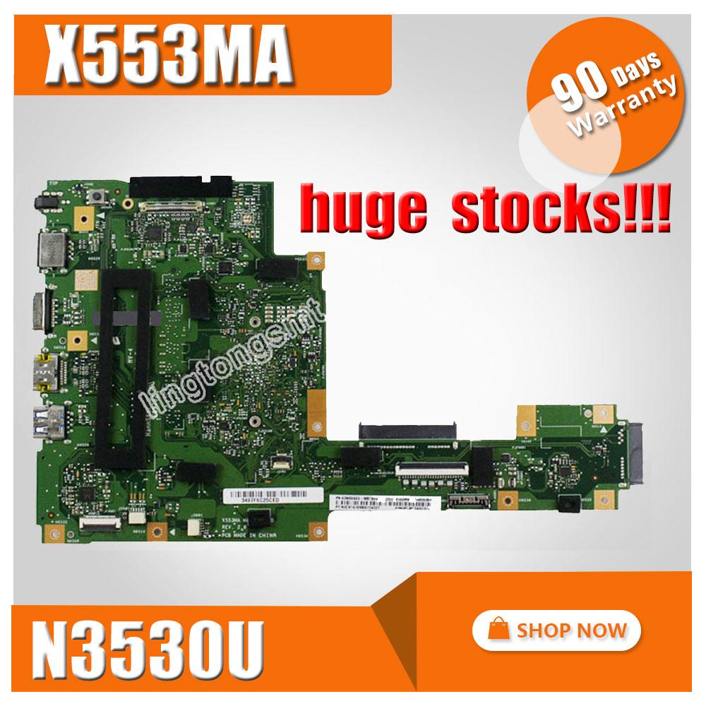 FOR ASUS Motherboard A553M A553MA D553M F553M F553MA K553M X503M X503MA F503MA X553M X553MA REV2.0 N3530U Mainboard Tested ok asus m4a78 vm desktop motherboard 780g socket am2 ddr2 sata2 usb2 0 uatx second hand high quality