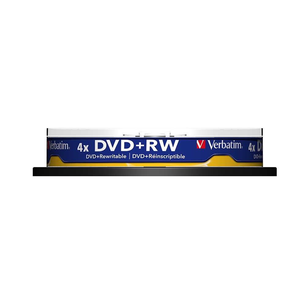 Verbatim 4x4.7 gb DVD + RW Trống Đĩa 10pk Trục Chính Bán Buôn Rất Nhiều Gốc Mang Nhãn Hiệu Ghi Lại Đĩa Phương Tiện Truyền Thông Nhỏ Gọn lưu Trữ dữ liệu DVD