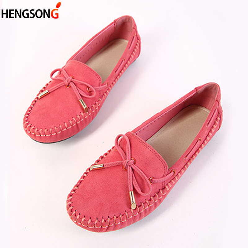 Women Flats Casual Shoes Bowtie Loafers Sweet Candy Colors Women Flats Summer Shoes Woman Loafers 4 Colors Plus Size 35-41 plus size 34 41 black khaki lace bow flats shoes for womens ds219 fashion round toe bowtie sweet spring summer fall flats shoes