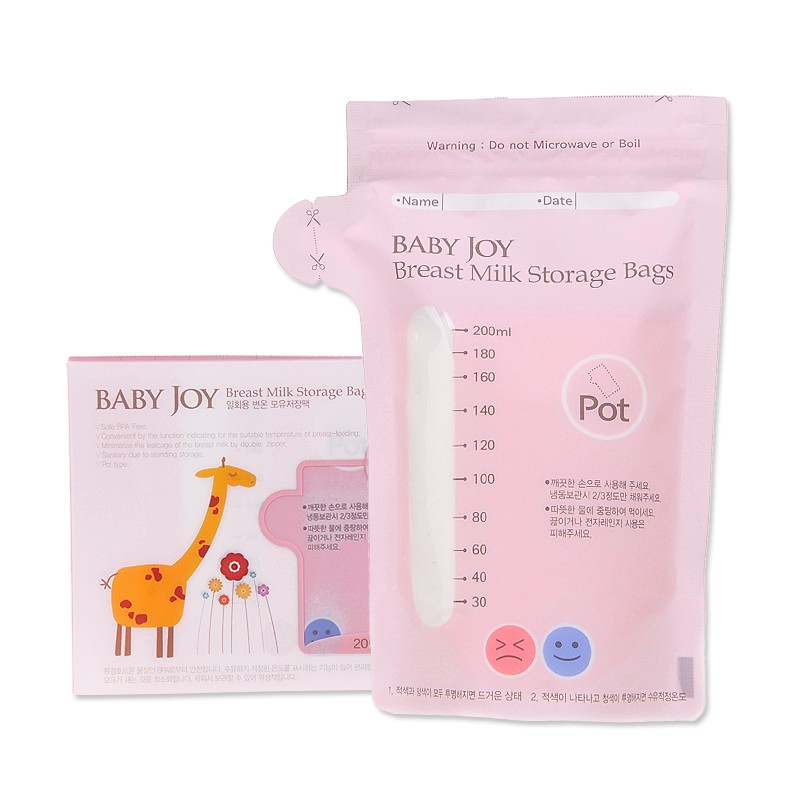 30pcs Breastmilk Storage Bags - Easy-Pour - BPA-Free & Phthalate-Free - Pump & Save Breast Milk In The Freezer 200ml 0
