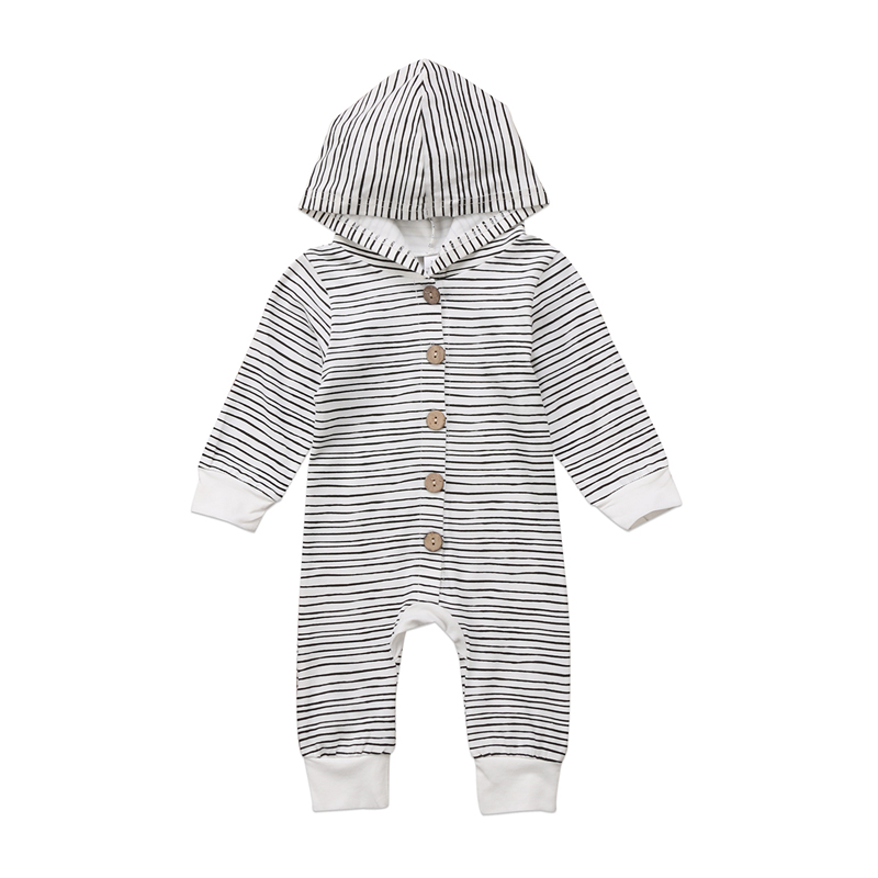 FOCUSNORM New Fashion Baby Boy Girl Kid Hooded   Romper   Jumpsuit Clothes Sweater Outfit
