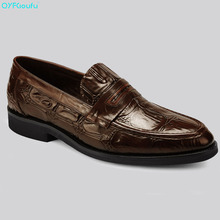 New Top Italian Mens Luxury Dress Shoes Oxfords Genuine Leather Shoes High Quality Cow Leather Slip On Formal Shoes