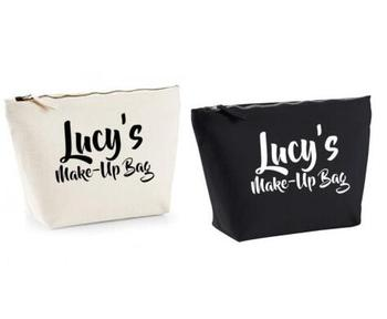 Personalised names bridesmaid wedding Gift Make Up Wash Cosmetic Bags Unique Gift for Bridal Party Bags