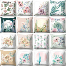 Hongbo Brief Modern Throw Pillow Case Succulent Plants Print Pineapple Cactus Home Cover Classy Decorative Pillowcase