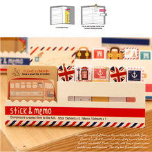 2pcs/lot Kawaii British style Memo Pad weekly plan Sticky Notes Post stationery School Supplies Planner Paper Stickers 2pcs lot kawaii british style memo pad weekly plan sticky notes post stationery school supplies planner paper stickers