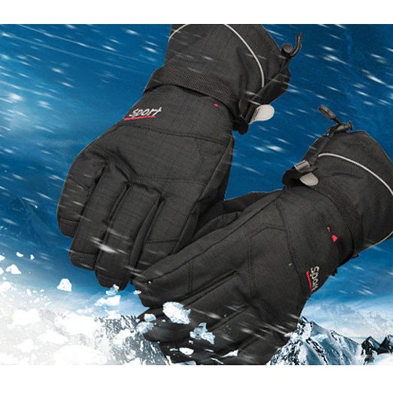 Super Warm Five Fingers Ski Gloves Snowboard Skiing Gloves Riding Winter Gloves Windproof Waterproof Snow Glove Men Women