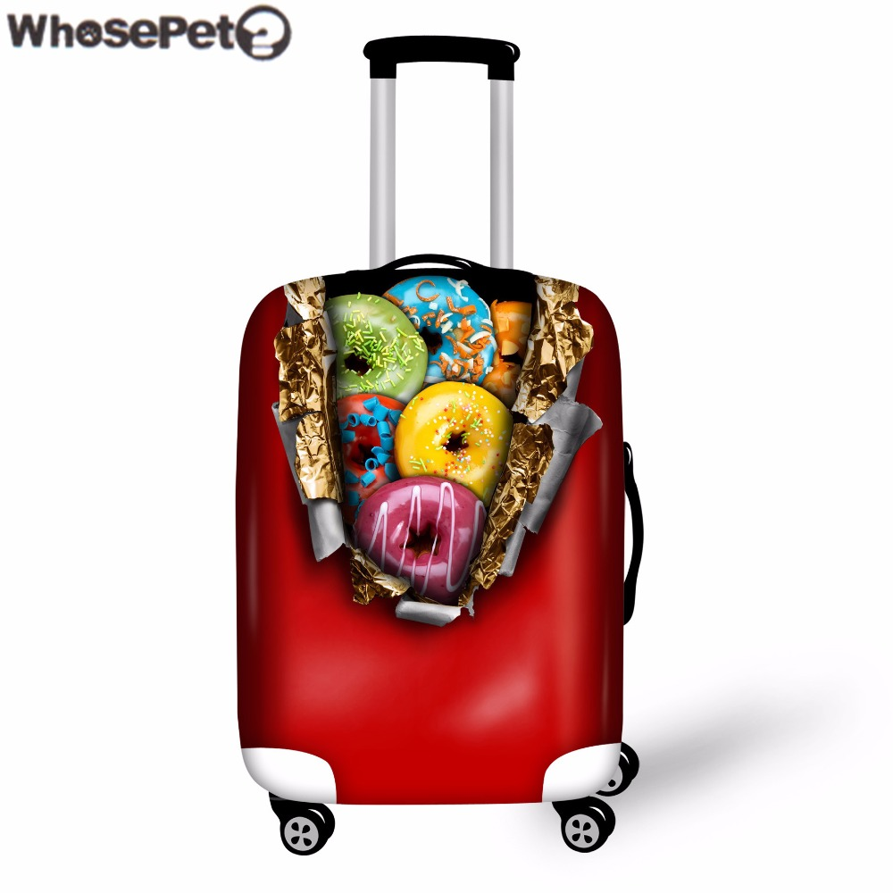 I Love You More Than Quotes: WHOSEPET Chocolate Donuts Print Thick Elastic Luggage