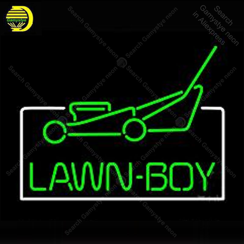 Neon Sign Lawn Boy Logo Auto Decorate wall Handcrafted Neon lights Sign Real glass Tube Iconic Advertise Art Custom LampsNeon Sign Lawn Boy Logo Auto Decorate wall Handcrafted Neon lights Sign Real glass Tube Iconic Advertise Art Custom Lamps