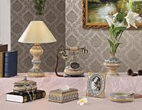 Atis European bedroom living room lamp bedside lamp phone Home Furnishing antique telephone set