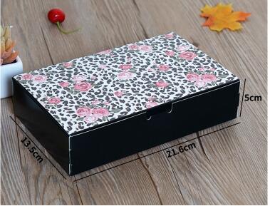 21.6*13.5*5 cm Caja de Embalaje Caja de Pastel de Luna del festival de la Boda D