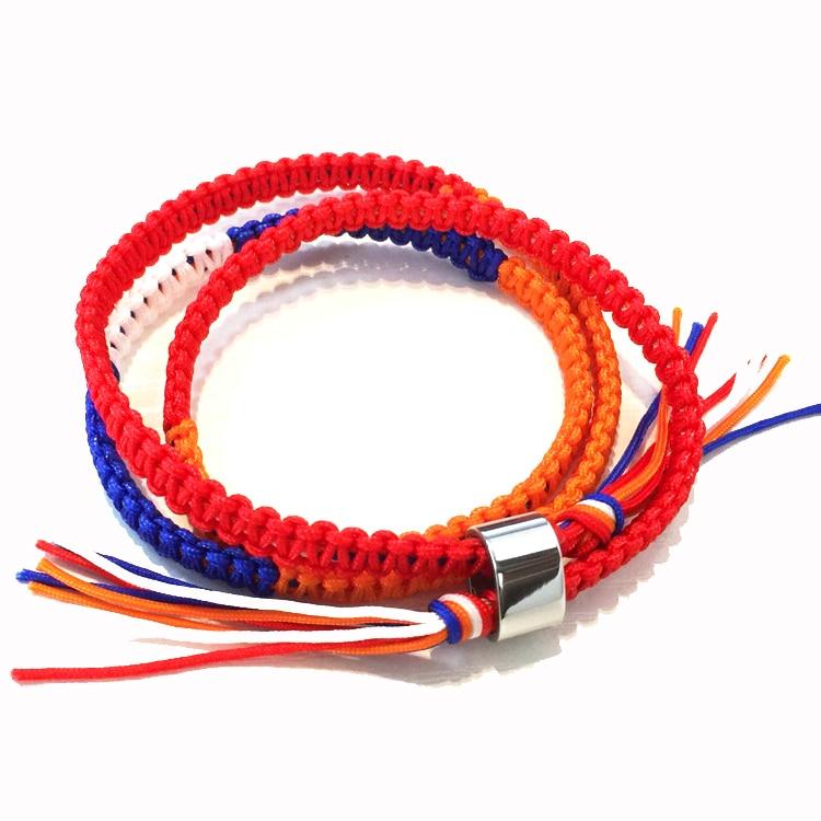Your Name Kimi no Na wa Miyamizu Mitsuha Lovers Bracelet Braided Knitted by Hand Rope Chains Kabbalah Bracelets Cosplay Jewelry