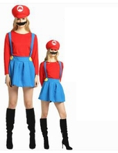 Halloween Costume Super Mario For Women Anime Cosplay Disfraces Adult Carnival Clothing Sets