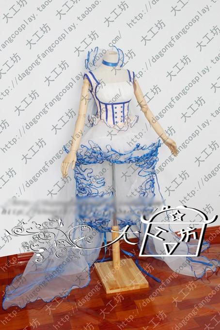 Чобиты Chii еруда белого и синего цвета Лолита вечерние платье Косплэй костюм Хэллоуин равномерное наряд на заказ