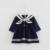 2017 estilo preppy infantil girl dress baby girls ropa de algodón niña vestidos de bautizo del bebé dress blanco 0-2 años