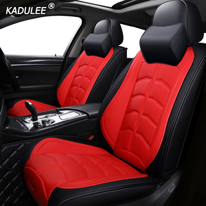 Image 2 - Kadulee Luxe Lederen Auto Seat Cover Voor Honda Accord 7 8 9 10 2002 2018 Civic 5d Cr  V Crv Fit Jazz Stad UR V Auto Accessoires