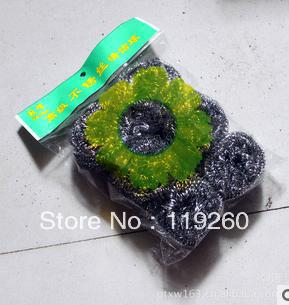 Wholesale Free Shipping 6 steel wire ball * 30 sets of wire kitchen does not rust steel wire ball bags