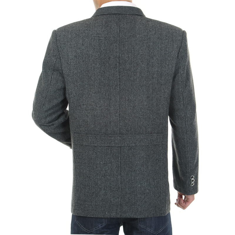 WAEOLSA Men Gray Blazers Fashion Tweed Blend Suit Jackets Man Casual Blazer Male Garment Chinese Apparel With Pockets Outerwear in Blazers from Men 39 s Clothing