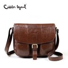 Cobbler Legend Brand Genuine Leather 2018 Women Shoulder Bag