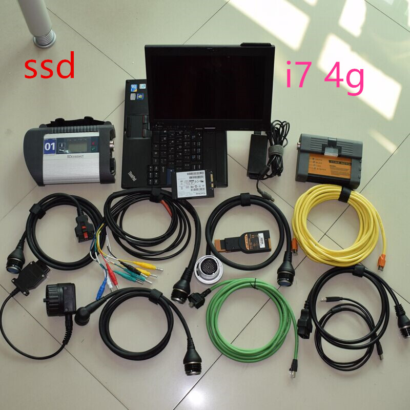 mb star c4 ssd for bmw icom a2 software 2in1 ssd 1tb with laptop i7 4g touch screen x201t super full set ready to work