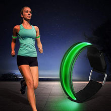 4Pcs Reflective Bracelet Luminous Wristbands Waterproof Luminous Band Night Safe Armbands Night Reflective Wristband LED(China)