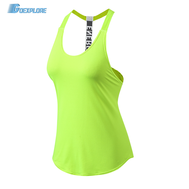 Goexplore Running Vest Women Gym Sports Sleeveless Shirts Tank Tops Fitness Clothes Loose Quick Dry Breathable Tops Singlets