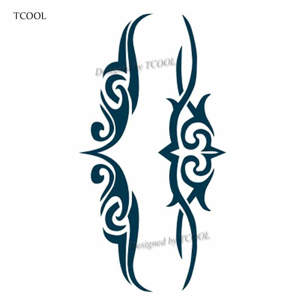 HXMAN Totem Temporary Tattoos Waterproof Women Fashion Fake Body Art Arm Tattoo Sticker 10.5X6cm Kids Hand Tatoo AB-018