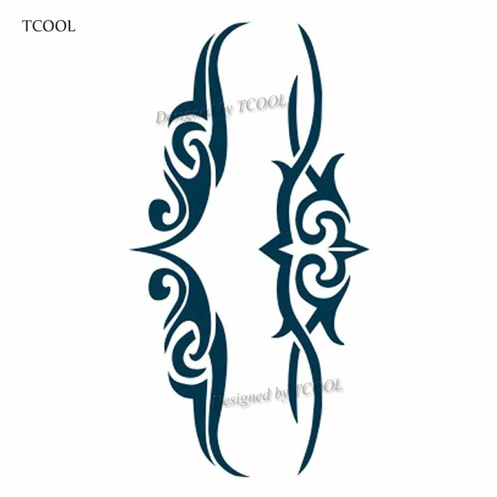 HXMAN Totem Temporary Tattoos Waterproof Women Fashion Fake Body Art Arm Tattoo Sticker 10.5X6cm Kids Hand Tatoo AB-018