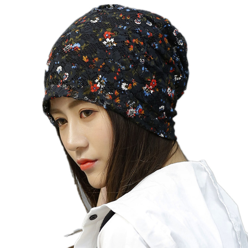 New fashion lace floral winter hats for women high quality warm turban hat casual beanie bonnet femme skullies gift for girl 2016 new men s cycling jerseys top sleeve blue and white waves bicycle shirt white bike top breathable cycling top ilpaladin
