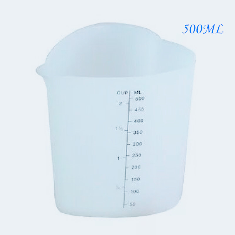 500ML Reusable Flexible Silicone Measuring Cup Cooks Bakers Resin Handmade Tool DIY Accessories Jewelry Making Tools