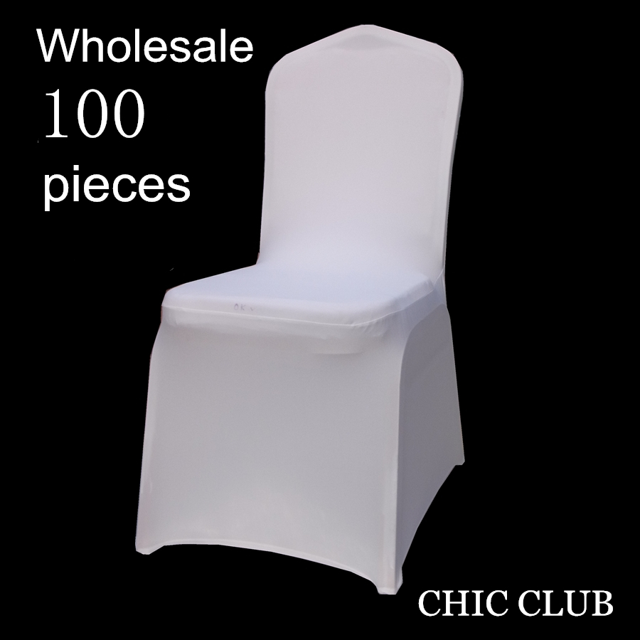 50 100 pieces Universal Stretch Polyester Wedding Party Spandex Chair Covers for Weddings Party White Red