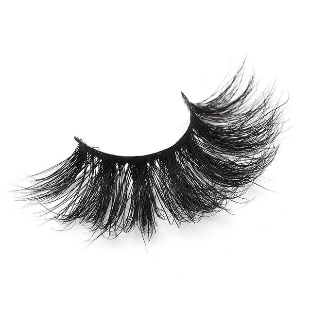 1 Pair 25mm False Eyelashes Thick 5D Mink Lashes Makeup Dramatic Long Lashes @ME88 2