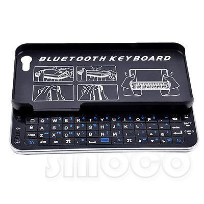 9842b6932de Brand New Ultra-thin Slide Out Backlight Bluetooth 3.0 Wireless Keyboard  Hard Case for iPhone 5 5S Bluetooth Keyboard Case