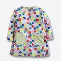 Nuevo Otoño Bebé Niños Vestidos Para Niñas de Algodón de Manga Larga Vestidos de Niña de Impresión Ocasional Chica vestidos de Marca Ropa de Los Niños 1-6Yrs
