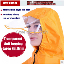 Plus Size burberry men Womens Long Raincoats Yellow Red Blue Poncho Transparent Thickening Large Hat Brim