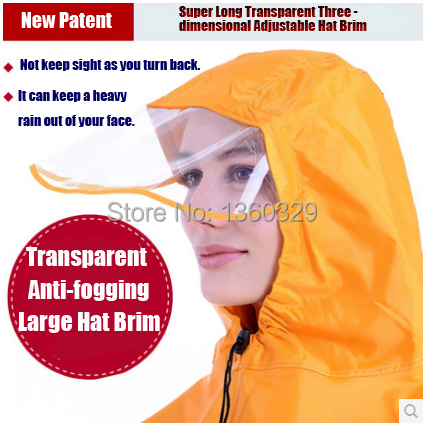 Plus Size burberry  men Womens Long Raincoats Yellow Red Blue Poncho  Transparent Thickening Large Hat Brim for Bicycle E-Bicycle c77183df5d22