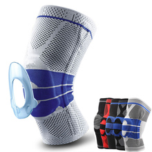 Arthritis Breathable Nylon Sport Safety Knee Brace Pad With Silicone Elastic Side Bars Bandage Basketball Fitness Thigh