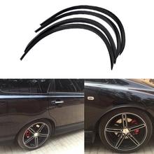 4pcs Car Arch Wheel Fender Flare Extension Protector Lip Anti-Scratch Soft Strip Wheel Lip Fender Flares Car Accessories Styling цена в Москве и Питере