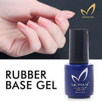 MONASI Rubber Base UV Gel Varnish No Sticky Layer Top Coat Soak-off Base and Top Gel Nail Polish UV Primer Gellak Nail Varnishes