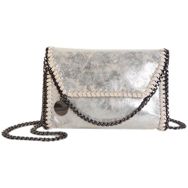 d4e03e72f7 Fashion Womens stella design Chain Detail Cross Body Bag Ladies Shoulder  bag clutch bag bolsa franja