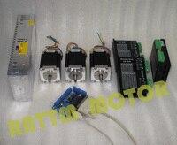 США Доставка/TAX free 3 оси с ЧПУ контроллер комплект 3 NEMA23 270 унций в шагового двигателя и драйвер с 256 microstep и 4.5A ток