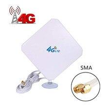 4G LTE 안테나 35dBi SMA 커넥터 SMA Male C 4G 안테나가있는 4G 모뎀/라우터/핫스팟 용 흡입 컵이있는 장거리 네트워크