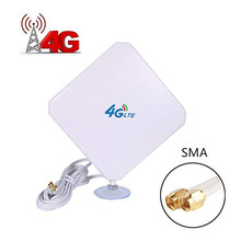 4G LTE Antenna 35dBi SMA Connector Long Range Network with Suction Cup for Modem/Router/Hotspot Male C