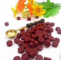 One Wax Vintage Spoon And 100 Pieces Sealing Wax Particles Grain Pill For Retro Seal Stamp