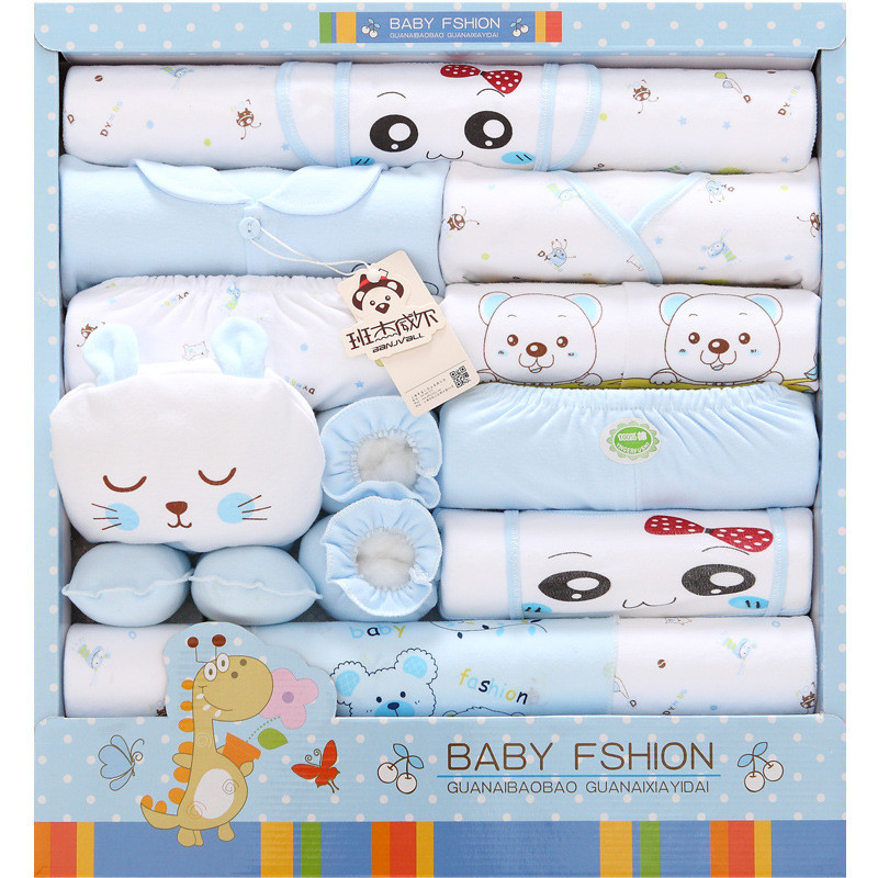 Autumn and winter cotton baby clothes newborn gift clothes set newborn Baby suit baby products new born baby gift sjhdl 0cm in diameter large space baby hand footed printing mud set newborn baby hand and foot print hundred days old gift souvenir