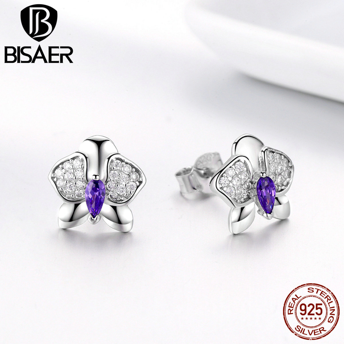 BISAER Genuine 925 Sterling...